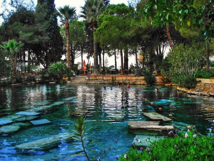 pamukkale antik havuz - Pamukkale Travertenler